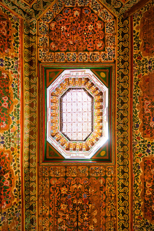 Morocco palace roof