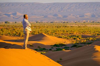 Peter at the edge of Sahara