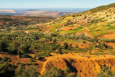 Slopes of the Atlas mountains
