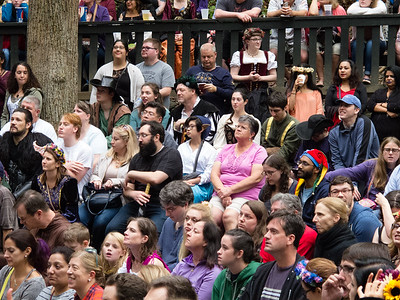 Audience watching Shakespear Scum
