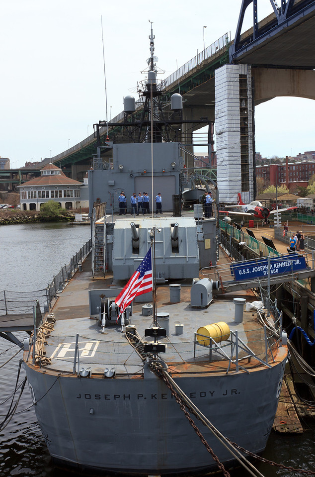 Battleship Cove in Fall River, Massachusetts. April 2012.