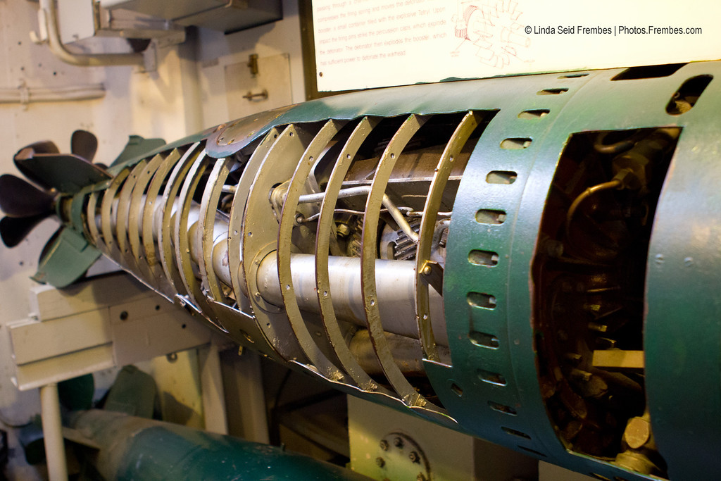 Torpedo, exploded view. - Battleship Cove in Fall River, Massachusetts. April 2012.