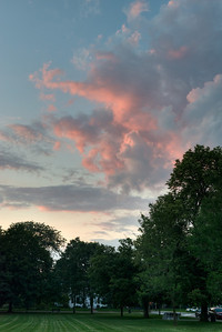 16 July 2013.  Sunset in Lexington, MA.
