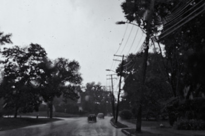 30 July 2013.  Driving during heavy rain down Massachuestts Avenue in Lexington MA.