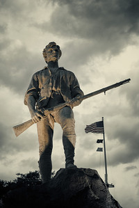 24 June 2013.  Minuteman statue in Lexington MA.