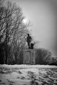 20130217.  Minute Man statue on west side of Concord River in Minute Man NHP.