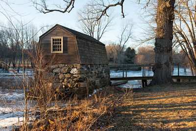 20130127. Boat house near North Bridge in Minute Man NHP.