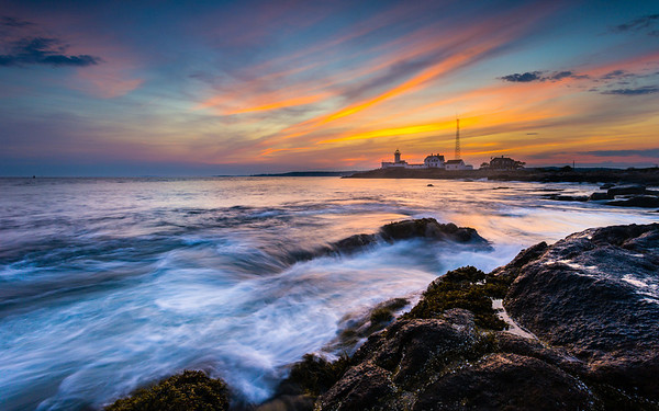 Eastern Point Lighthouse  Here is another shot from Eastern Point. I am so glad I got to visit this area while I was back East. I never though the East would have a coast like I get out here, not sure why I thought that. Just means I will have to make some more trips out that way and see what else I can find.   Canon 5D MK III Canon 17-40mm f/4 L Induro CT214 Tripod ISO 100 f/16 1.0 Second One shot, no blending on this one. http://smu.gs/OMRTRn