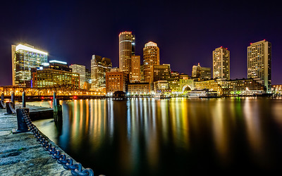 Boston Harbor Skyline from Fan Pier in South Boston Well I made it back to the West Coast. Boston certainly was an awesome trip and I certainly have a ton of pictures. Might take a few months to get them all out there. I definitely could compare Boston to San Francisco. While in San Francisco I can drive a little ways and do some seascape shooting, and I can do the same back in Boston. I love getting the best of both worlds, city and landscape.  This was probably my favorite view of Boston that I found. Taken from Fan Pier Plaza in South Boston. I wondered around for a little bit trying to get the best angle and also keep the chain in the frame as well as the full city view. There were street light just to the left and blew out the picture, so I could go any further back.   Canon 5D MK III Canon 17-40mm f/4 L f/16 74 Seconds ISO 100 Induro CT214 Tripod  I will be uploading all my photos from my trip to my +SmugMug Gallery.  Link to album - http://smu.gs/MY2JFR  #photospot  (GPS: 42.355034,-71.046868)