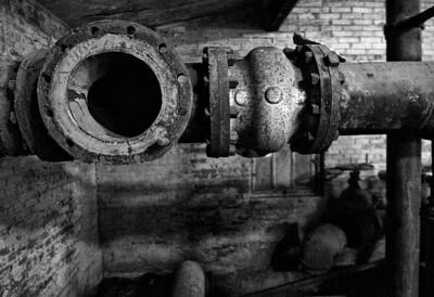 Pipes  Lumber Mill, McCloud, CA