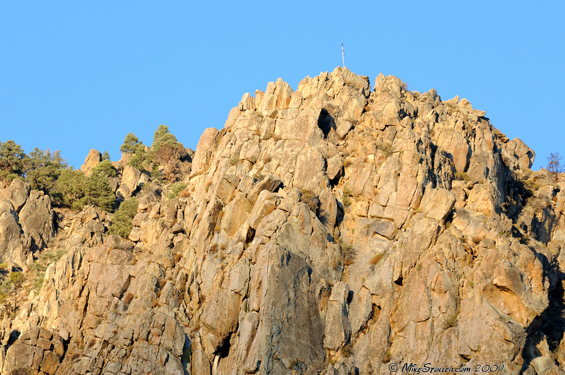 Meadow Cliff RV Park, Top of the Cliff and Flag.