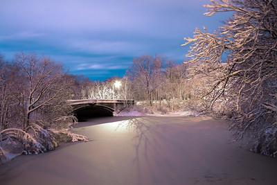 RT16 Bridge after snowstorm