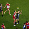 Collingwood vs Sydney Swans at the MCG in Melbourne.  Friday 24th May, 2013.  Photo by: Stephen Hindley ©