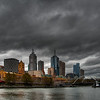 April 24th - A view of the Melbourne skyline under an ominous sky.