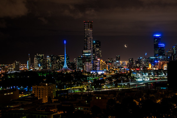 Melbourne, Australia at night