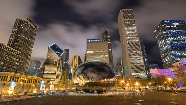 Golden Chicago - Mellinium Park at Night