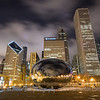Golden Chicago - Mellinium Park at Night