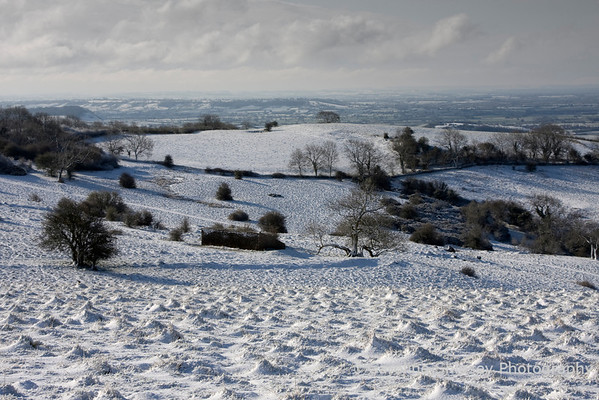 Snow on the Mendips at Deer Leap
