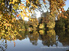 Emborough pond in Autumn Mendip Landscape