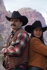 Cowboy & Cowgirl Portrait