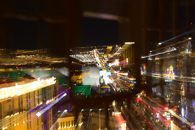 Night view of the Las Vegas Strip from Eiffel Tower