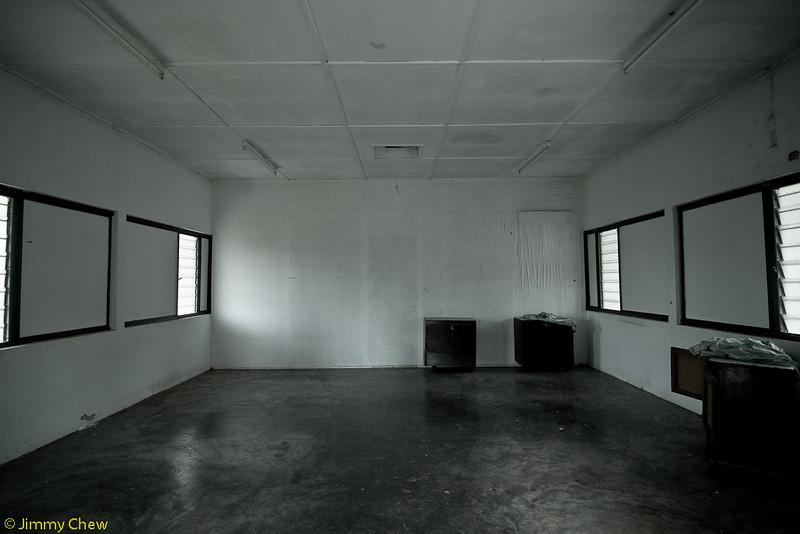 Dormitory room.