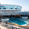 Looking down from Deck 16 to Deck 15/Lido Deck...Calypso Pool