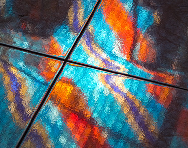 Stained Glass Reflected