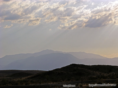 Driving through the high desert.