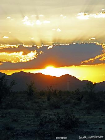 Sunset in the high desert.