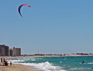 Kite surfing Playa Bonita , Puerto Penasco, Mexico.
