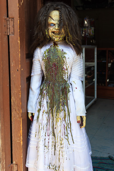 Evil doll covered in vomit, Mexico