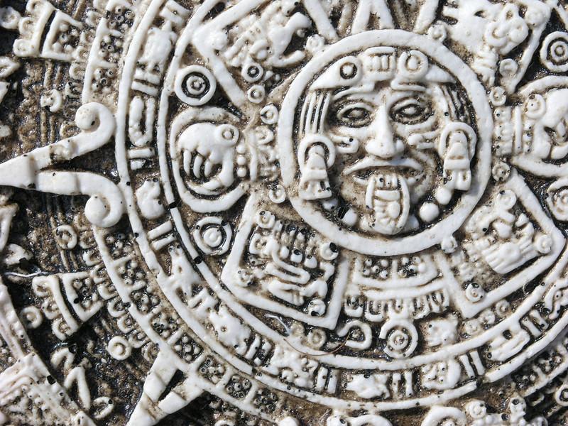 Mexican Calendar in whale bone