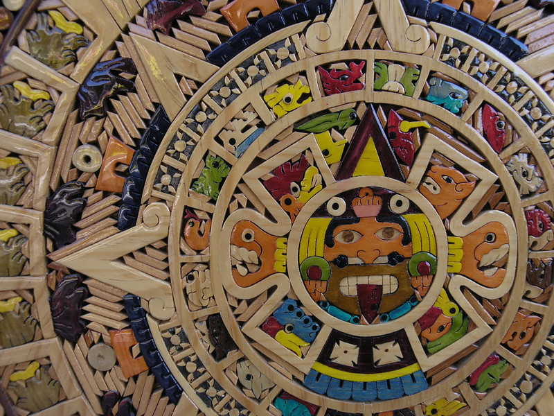 Mexican Calendar in wood