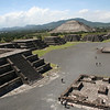 Moon Temple\'s view of the Sun Temple, Teotihuacán