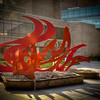"Cynthia McKean's Art Prize Entry...""Rising Phoenix""   Final installation."