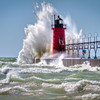 South Haven Lighthouse, One of the famous Lake Michigan winds