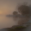 Fog in Saugatuck Harbor