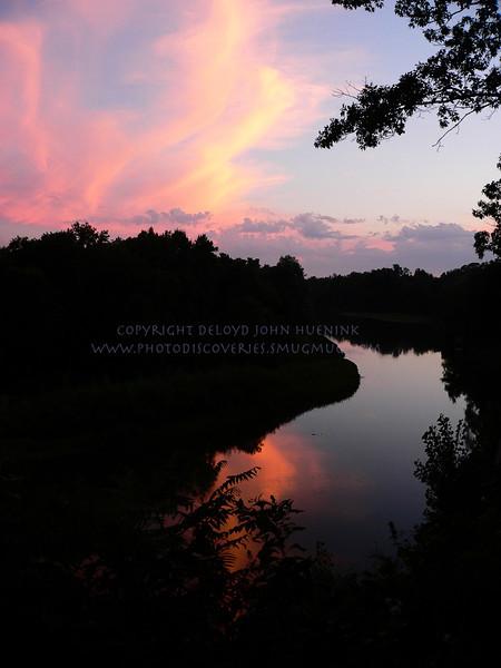 Sunset on the Kalamazoo River outside of Saugatuck
