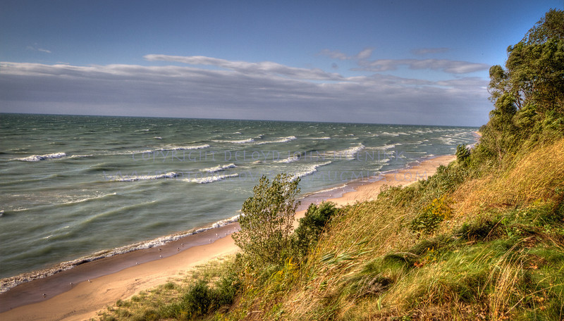 Looking to Lake Michigan from the Dunes