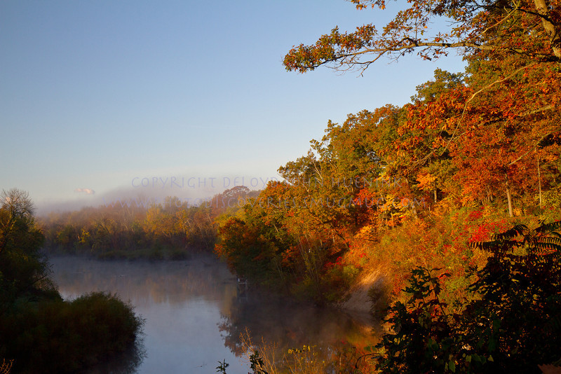 fall colors on the Kalamazoo River just outside of Saugatuck