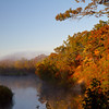 fall colors on the Kalamazoo River just outside of Saugatuck