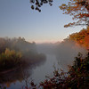 Fog on the Kalamazoo River just outside of Saugatuck