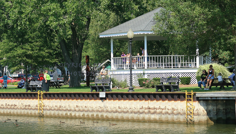 The Gazebo in the park in Saugatuck