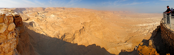 "Masada Panorama - hover your mouse over the picture and select ""Original"" from the box that appears to see a much larger version of the picture."