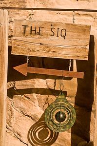 Sign at the entrance to The Siq - Petra, Jordan.