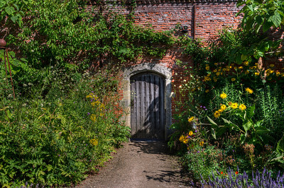 The Walled Garden at Cowdray, Midhurst, Sussex, August 2013