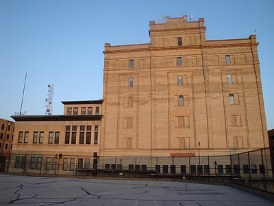 Former stock house of Schlitz Brewery.