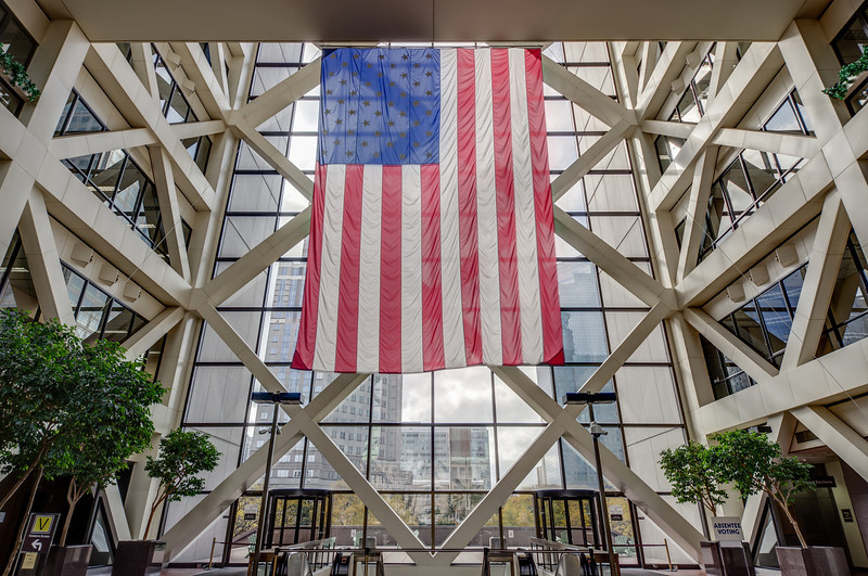 American Flag in Hennepin County Government Center