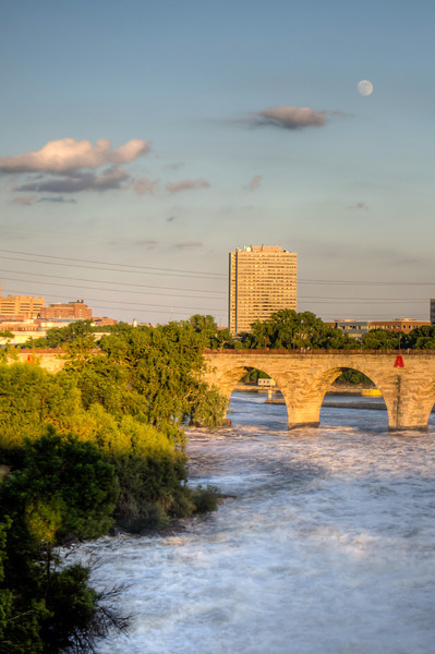 Moon Over the Stone Arch